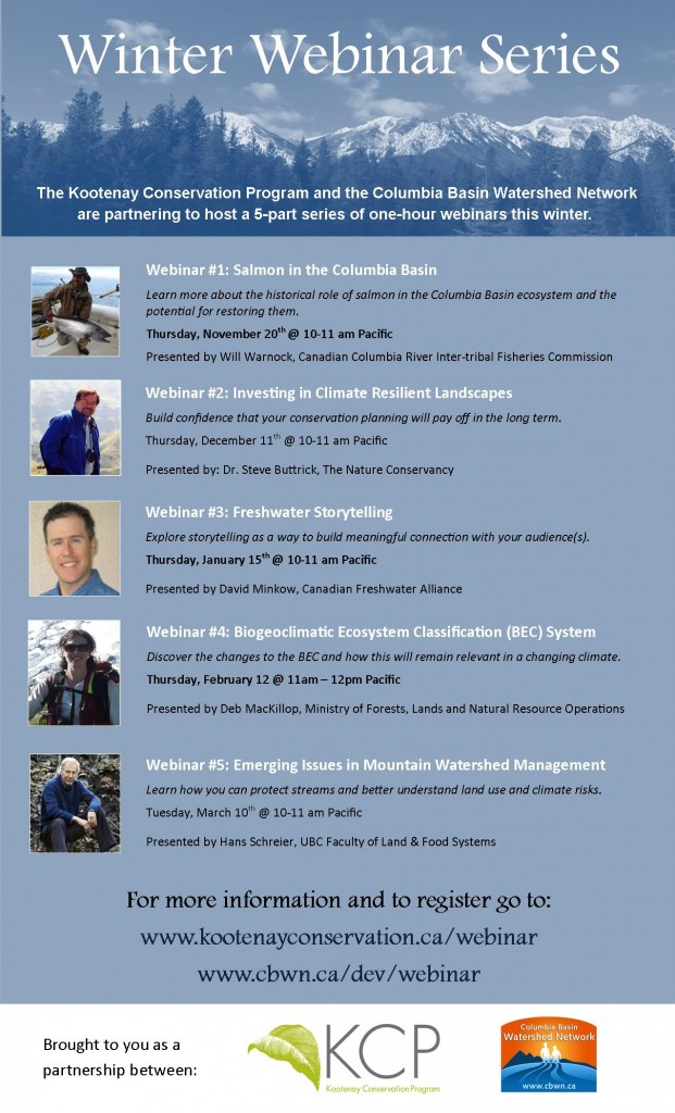 Winter Webinar Series Poster