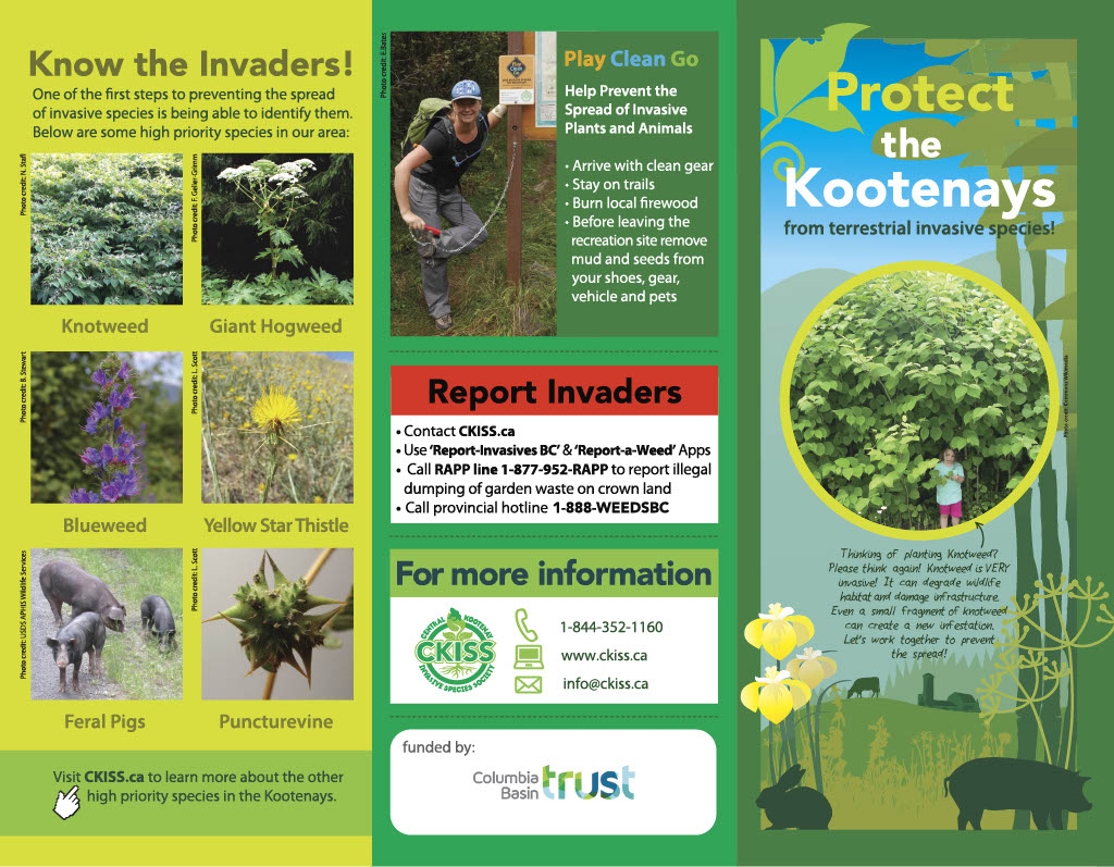 CKISS Brochure - Protect the Kootenays from Terrestrial Invaders